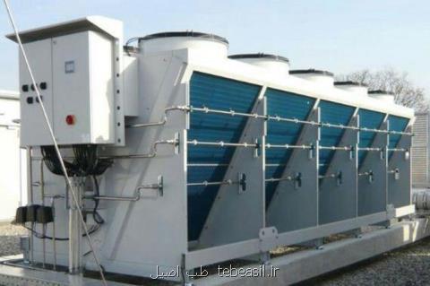 چیلر تراکمی، برج خنک کننده و هواساز مهتاب گستر