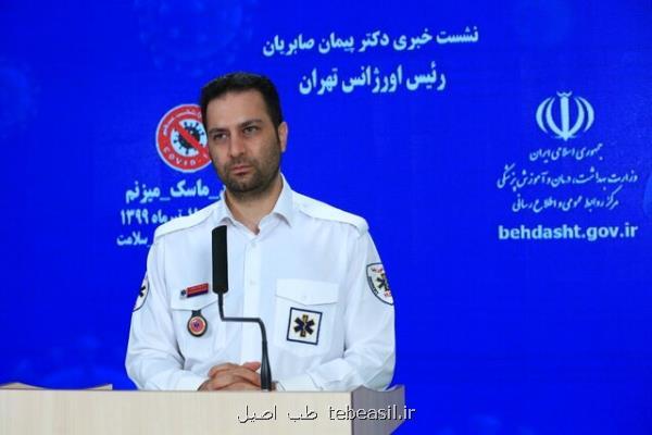 رییس اورژانس تهران اعلام کرد مأموریت های کرونایی اورژانس تهران